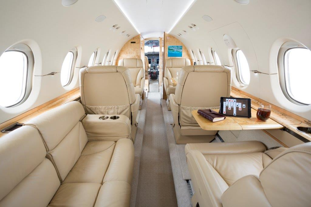 Mid-size Private Jet - Hawker 900XP: Interior | VelocityJets